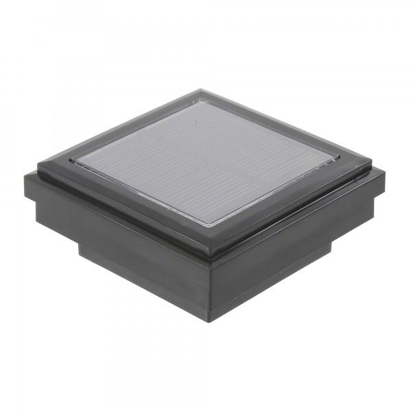 Ornamental Downward Solar Lighted Post Cap (Black Shown)