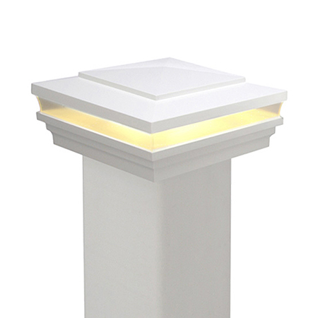 Cape May Low Voltage Standard Vinyl Post Cap (5K)