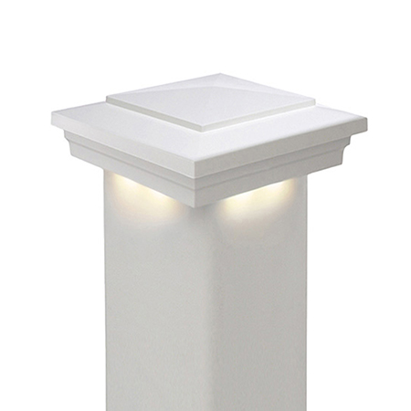 Cape May Low Voltage Downward Vinyl Post Cap (3K)
