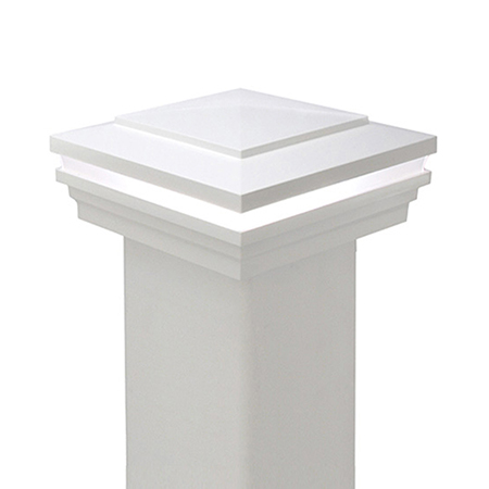 Cape May Low Voltage Halo Vinyl Post Cap (5K)